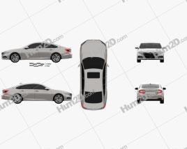 Honda Accord Touring Hybrid US-spec sedan 2018 car clipart