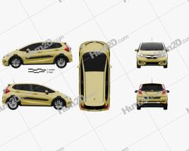 Honda Fit Hybrid Cross Style JP-spec 2017 car clipart