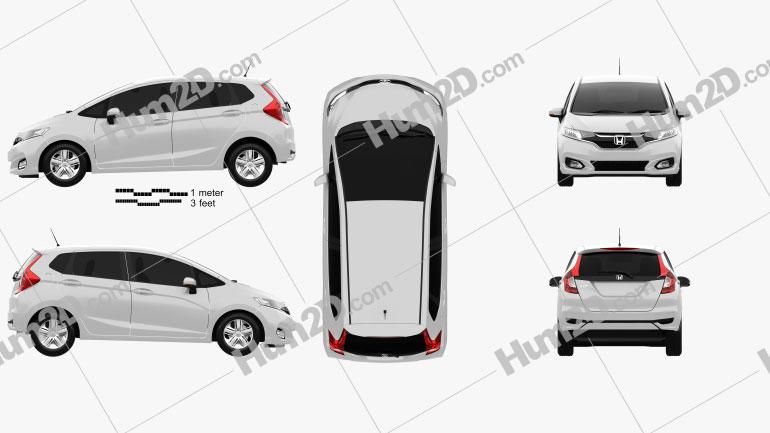 Honda Fit JP-spec 2017 car clipart