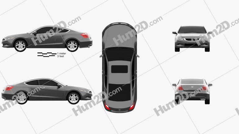 Honda Accord (CS) EX-L coupe 2008 car clipart