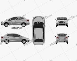 Honda Brio Amaze sedan 2016 car clipart