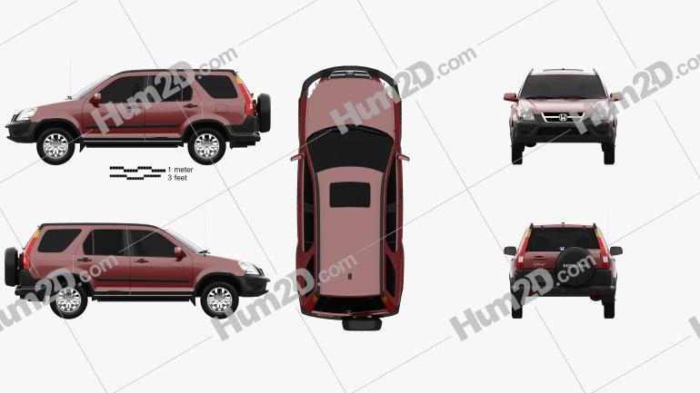 Honda CR-V EX 2003 car clipart