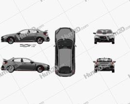 Honda Civic Type-R Prototype hatchback with HQ interior 2016