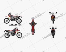 Honda CRF250L Rallye 2017 Motorrad clipart