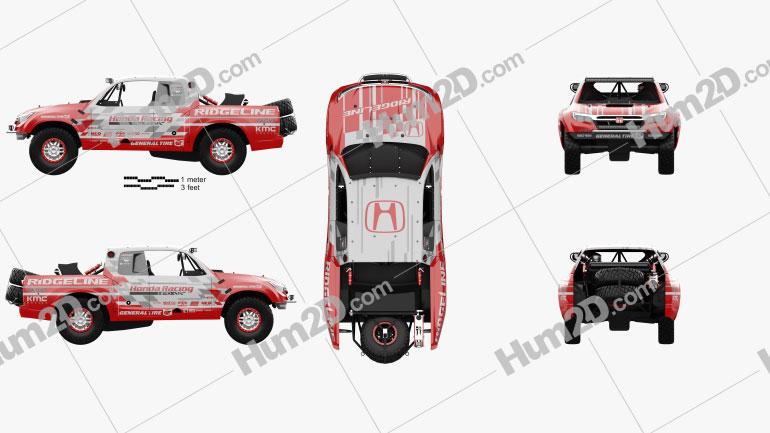 Honda Ridgeline Baja Race Truck 2016