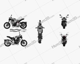 Honda CB1000R 2018 Motorcycle clipart