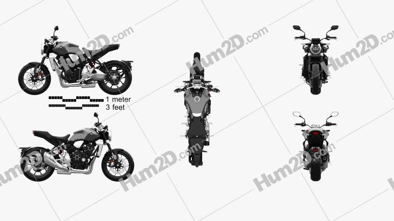 Honda CB1000R 2018 Motorrad clipart