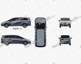 Honda Odyssey J EXV 2018 clipart