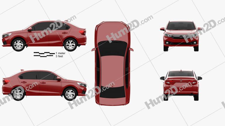 Honda Amaze 2018 car clipart