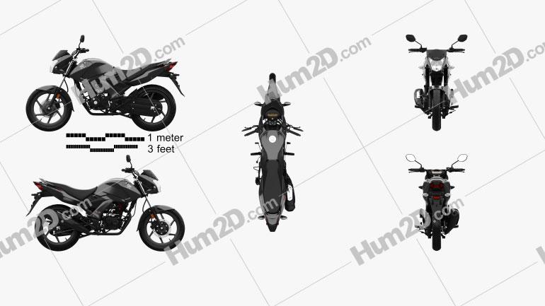 Honda Unicorn 160 2017 Moto clipart