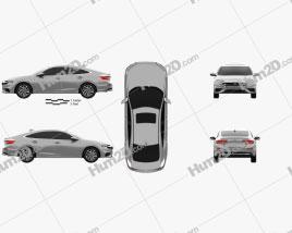 Honda Insight Touring 2018 car clipart