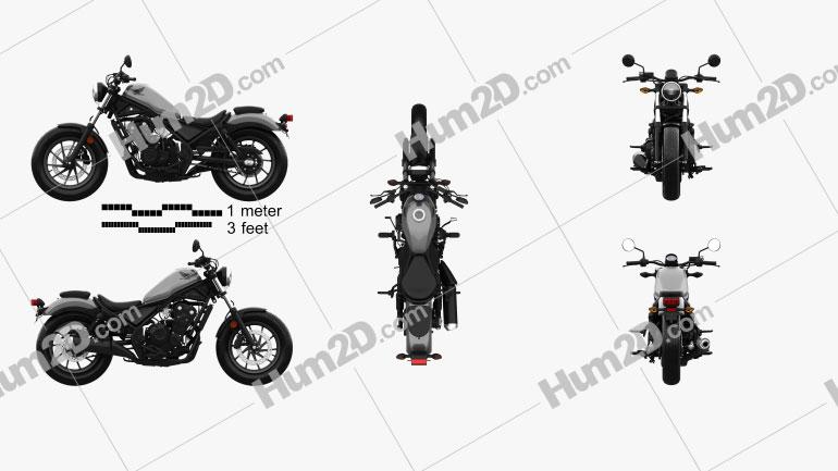 Honda Rebel 500 2018 Motorcycle clipart