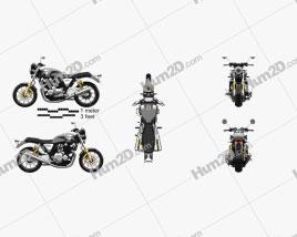 Honda CB1100RS 2018 Motorcycle clipart