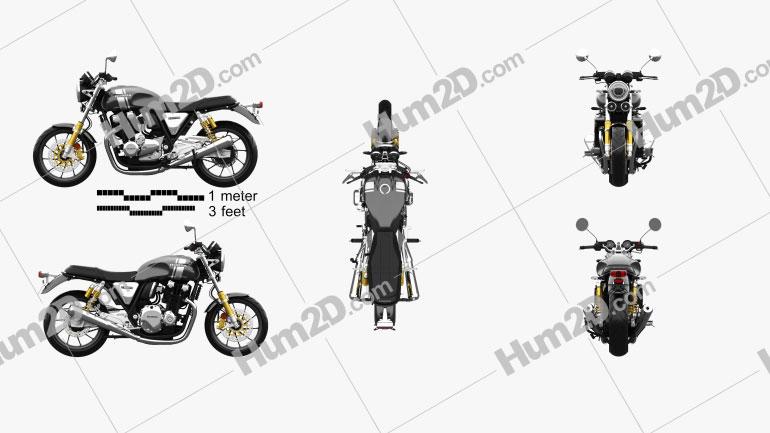 Honda CB1100RS 2018 Motorrad clipart
