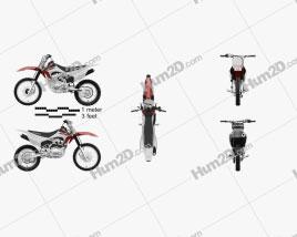 Honda CRF150F 2018 Motorcycle clipart