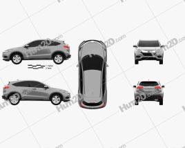 Honda HR-V LX 2018 car clipart