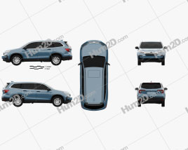 Honda Pilot LX 2019 car clipart