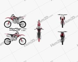 Honda CRF150R 2018 Motorcycle clipart