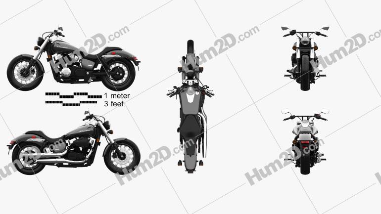 Honda Shadow Phantom 2018 Clipart Image