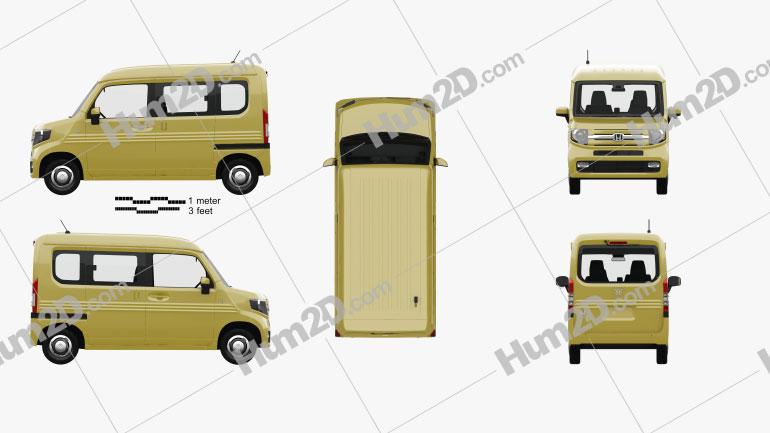 Honda N-Van Style Fun with HQ interior 2018 clipart