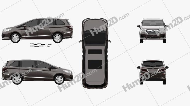 Honda Elysion 2016 clipart