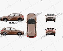 Honda XR-V with HQ interior 2015 car clipart