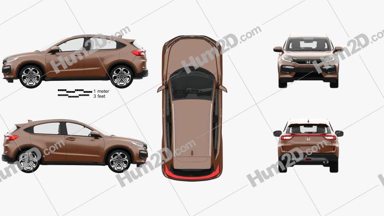 Honda XR-V mit HD Innenraum 2015 car clipart