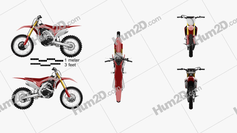 Honda CRF450R 2018 Motorcycle clipart