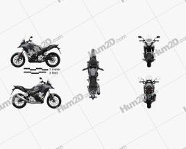 Honda CB500X 2018 Motorcycle clipart