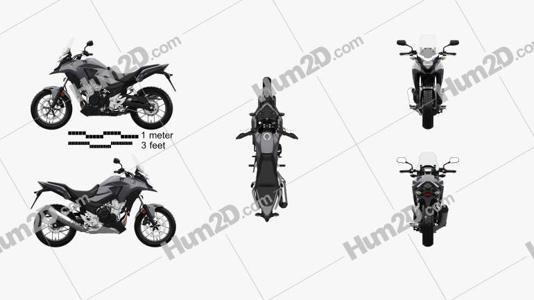 Honda CB500X 2018 Moto clipart
