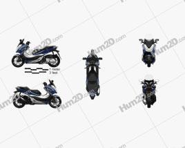 Honda Forza 300 2018 Motorcycle clipart