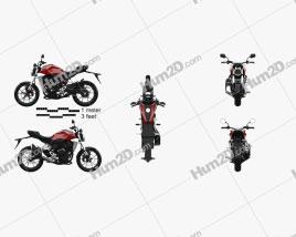 Honda CB300R 2018 Motorcycle clipart