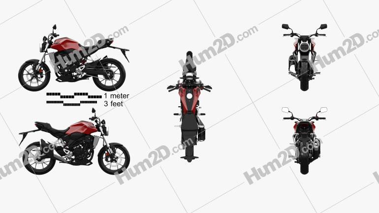 Honda CB300R 2018 Clipart Image