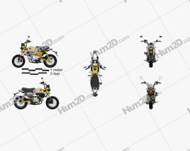Honda Monkey 125 2019 Motorcycle clipart