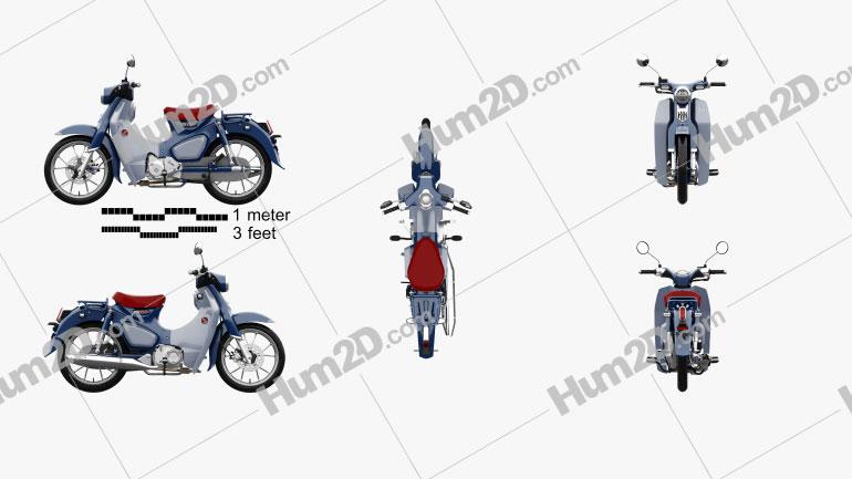 Honda Super Cub C125 2019 Motorcycle clipart