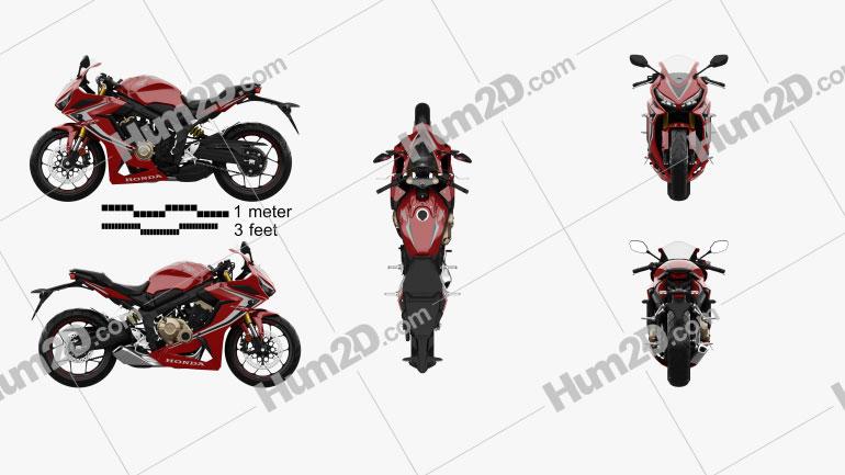 Honda CBR650R 2019 Motorcycle clipart