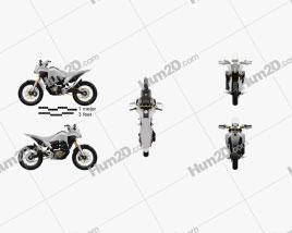 Honda CB125X 2018 Motorcycle clipart