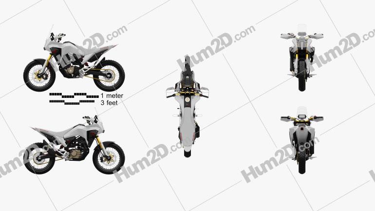 Honda CB125X 2018 Clipart Image