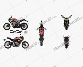 Honda CB650R 2019 Motorcycle clipart