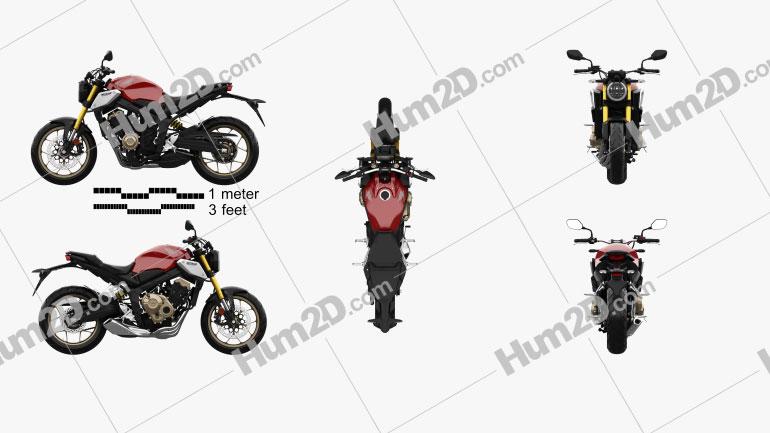 Honda CB650R 2019 Clipart Image