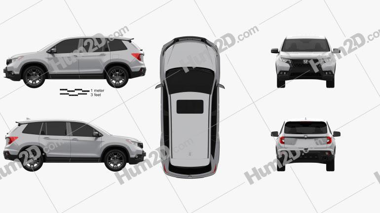 Honda Passport Sport 2019 car clipart