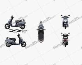 Honda Activa 125 2019 Motorcycle clipart