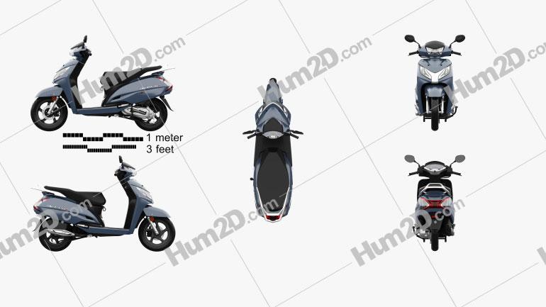 Honda Activa 125 2019 Imagem Clipart