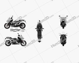 Honda NC750D INTEGRA ABS DCT 2019 Motorcycle clipart
