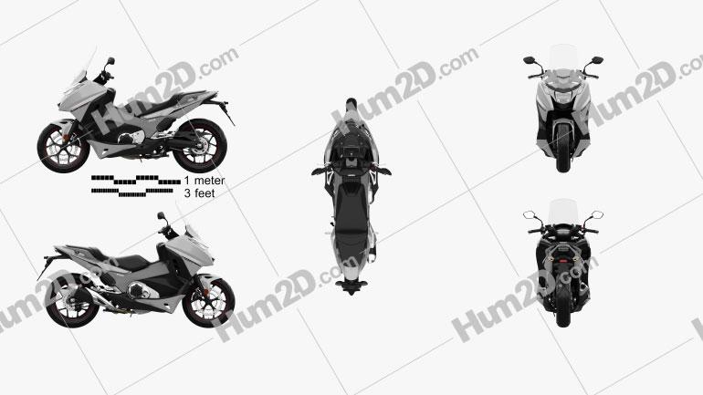 Honda NC750D INTEGRA ABS DCT 2019 Moto clipart