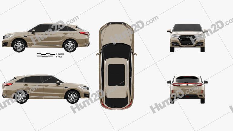 Honda UR-V 2017 Clipart Image