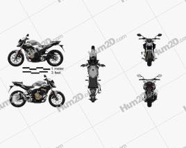 Honda CB500F 2019 Motorcycle clipart