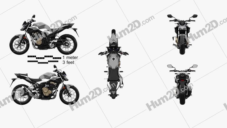 Honda CB500F 2019 Clipart Image