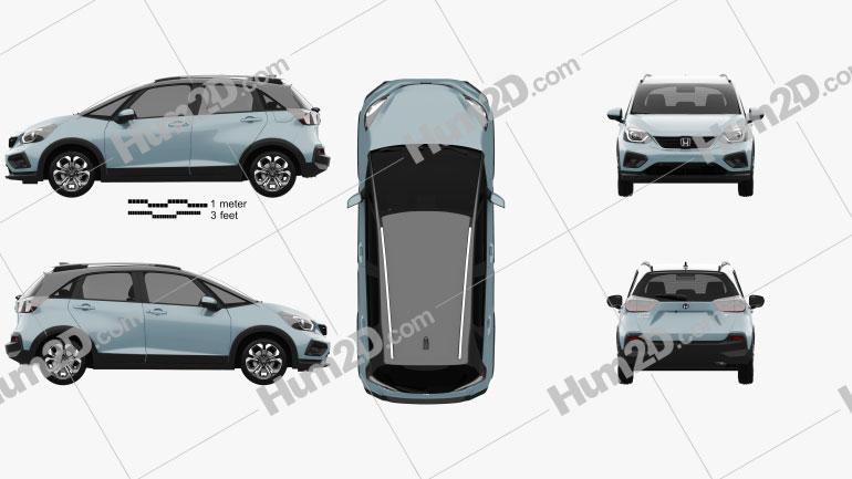 Honda Jazz e:HEV Crosstar 2020 car clipart