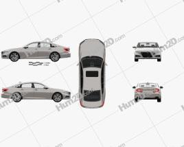 Honda Accord Touring sedan with HQ interior 2018 car clipart